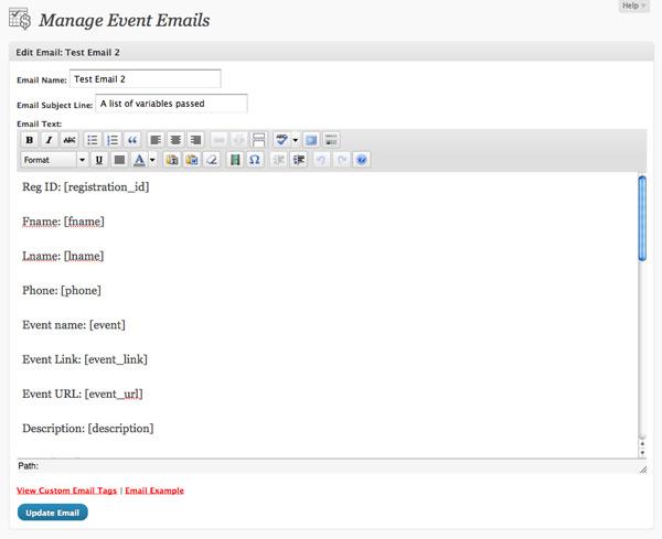 Custom Email Editor