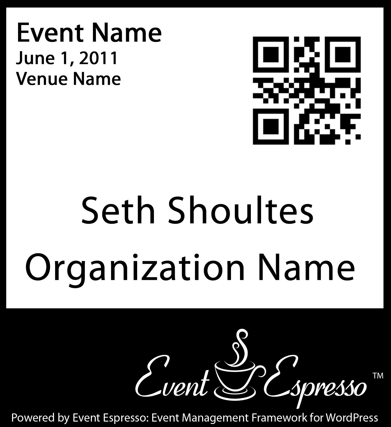 Event Espresso Name Badge