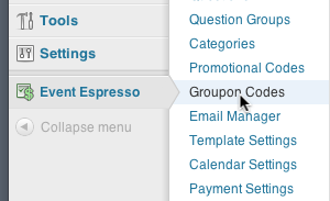 social coupons integration formerly groupon event espresso