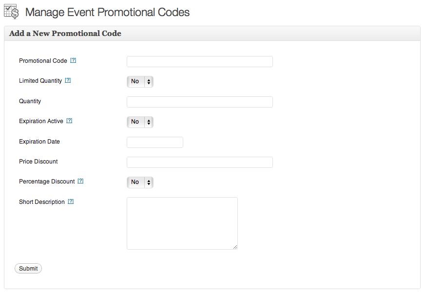 promo code screenshot
