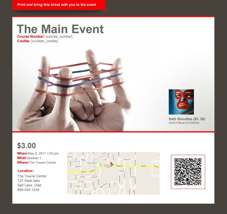 Printable tickets updated and included in the Business and – Printable Event Tickets