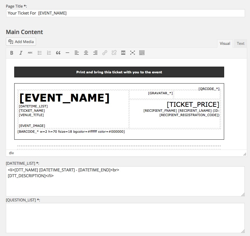EE4 Printable Tickets Addon Event Espresso WordPress Event – Printable Event Tickets