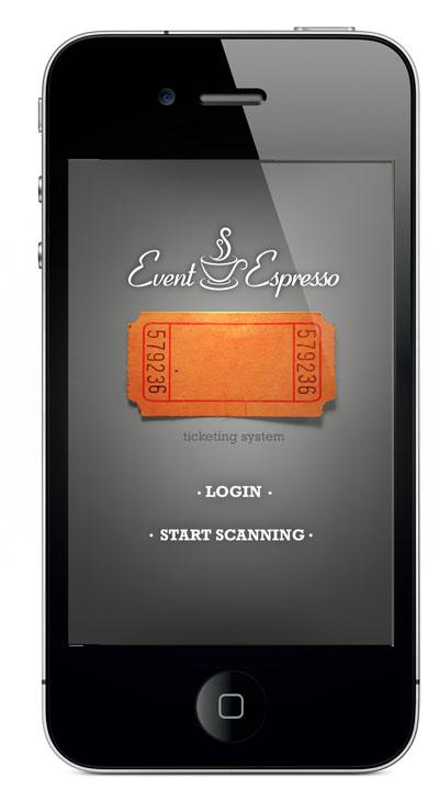 iPhone Ticket Scanner Home Screen