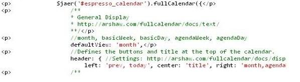 Events Calendar add-on help & documentation - Event Espresso