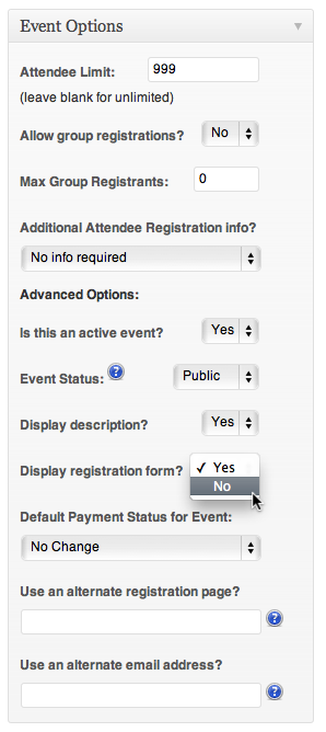 Display Registration Form