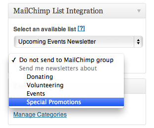 MailChimp Groups